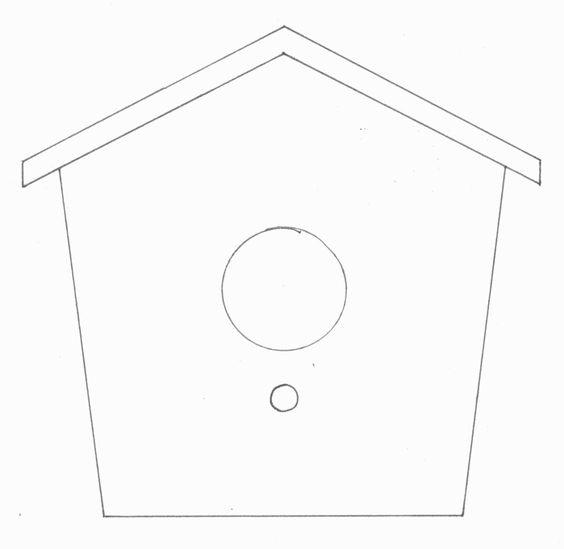 bird house template felt fun pinterest bird houses house template and house. Black Bedroom Furniture Sets. Home Design Ideas
