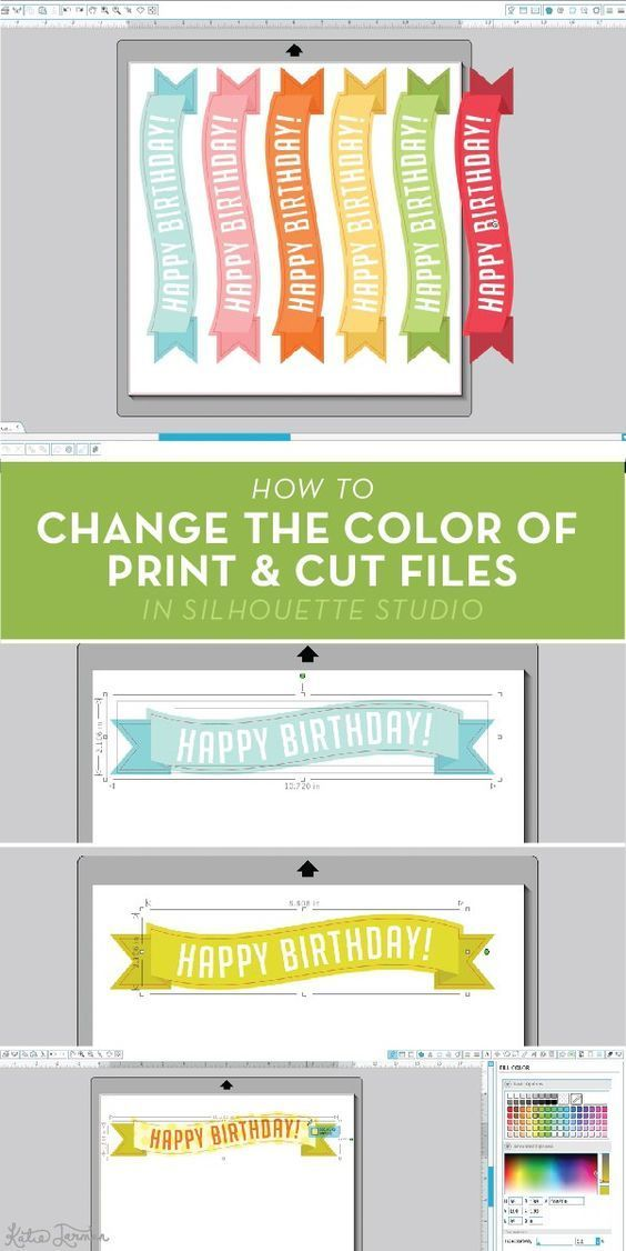 How to change the color of print and cut files in Silhouette Studio – Katie Jarman