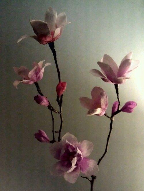 crepe paper magnolias