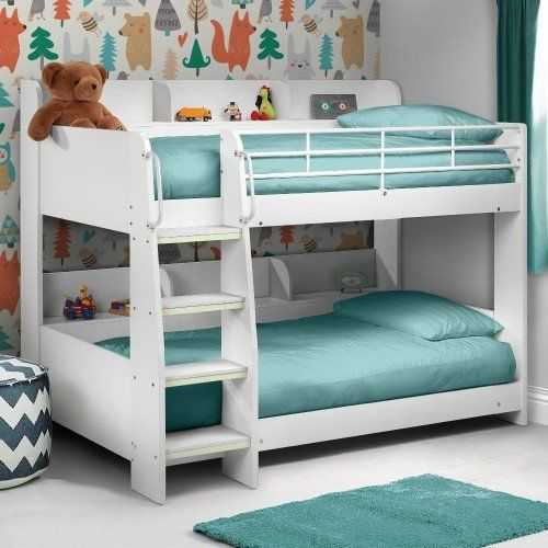 Domino White Wooden And Metal Kids Storage Bunk Bed In 2020 Bunk