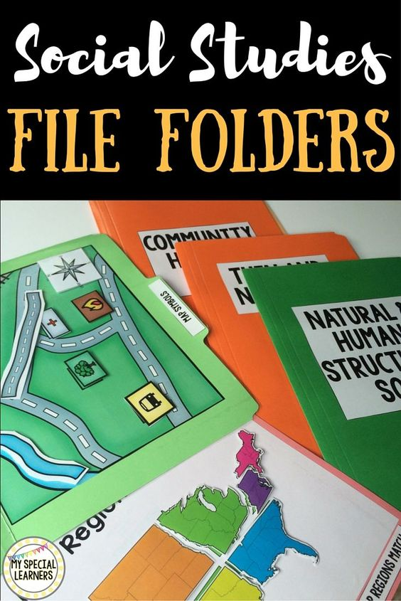 File folders are an AWESOME resource to practice and reinforce skills with students with special needs. Social studies is always a tough one to reinforce, but these work perfectly and require NO writing!!