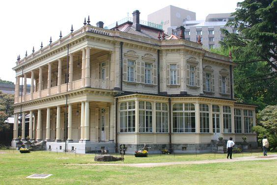iwasakitei 050515 岩崎邸 復元された内装の金唐革紙(きんからかわし)も素敵です ;-)