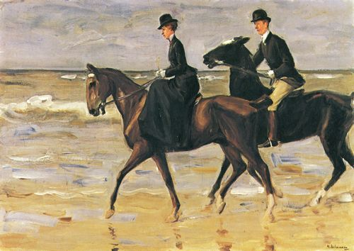 Liebermann, Max: Reiter und Reiterin am Strand