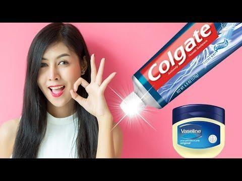 الفازلين ومعجون الأسنان سيغير حياتك للابد بياض فوري رائع Vaseline Colgate Gum
