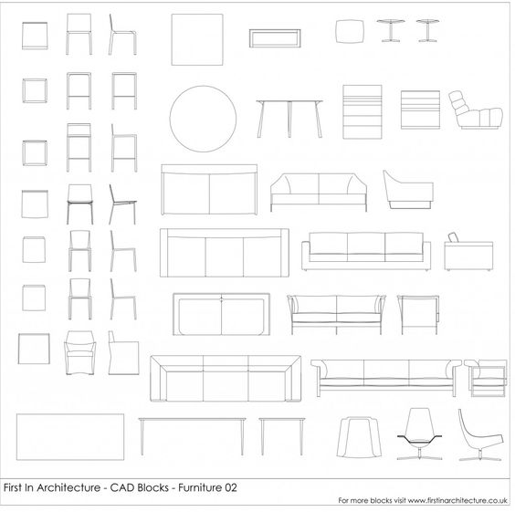 Wall Sconces Cad Block: Check Out Our Cad Blocks - FIA Furniture Blocks 02!