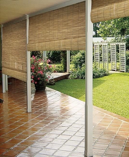Patio windows sun and sun shade on pinterest for Roll up screens for porches
