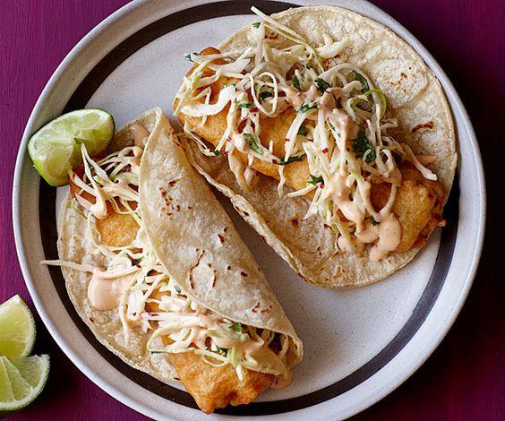 Baja fried fish tacos recipe fried fish tacos fried for Fried fish taco recipe
