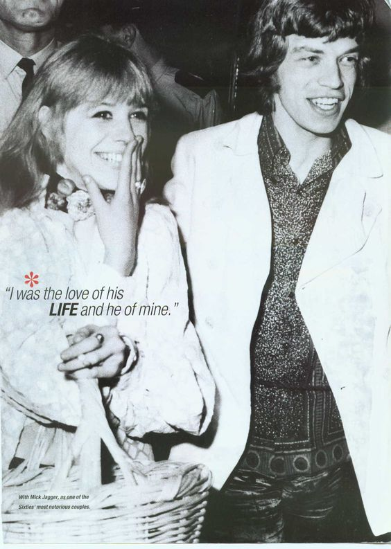 Mic Jagger & Marianne Faithful, young and in love in the 60s