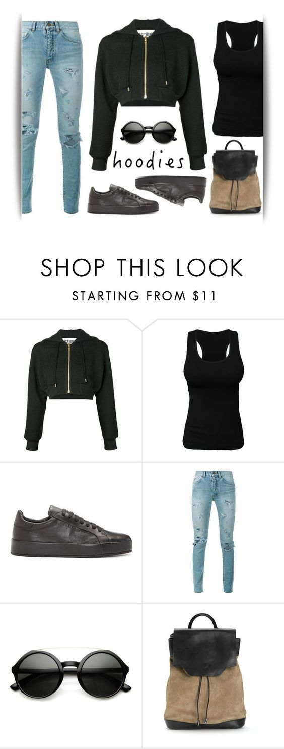 """""""Tot"""" by maritza-ade ❤ liked on Polyvore featuring Moschino, Jil Sander, Yves Saint Laurent, ZeroUV, rag & bone and Hoodies"""