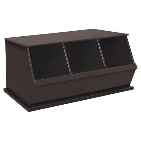 Storage Cubby in Espresso.  Great to hold shoes, or toys.