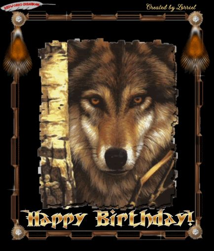 Image result for image oF HAppy Birthday with a Red WOLF