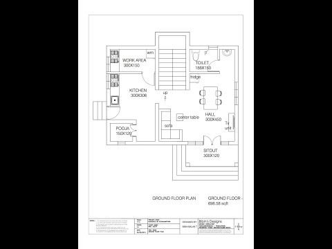 Kerala Budget Homes 13 Lakhs Floor Plan Video How To Plan House Floor Design Floor Plan Design