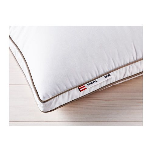 KNAVEL Pillow, firmer IKEA This pillow has more filling and is suitable if you like to sleep on a firmer pillow.