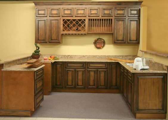 kitchen cabinets | Rustic-Pecan Maple Kitchen & Vanity Cabinets ...