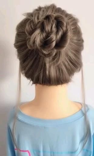 Pin By Rossfamily On Artesanias De Lana In 2020 Hair Up Styles Hair Styles Bun Hairstyles For Long Hair