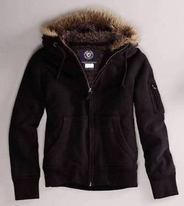 NEW Men's S American Eagle Black Fur Lined Trim Hoodie Jacket ...