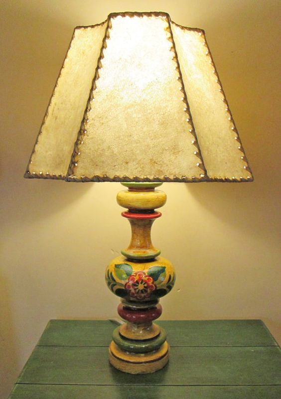 Spanish Colonial Revival Monterey Style Table Lamp With