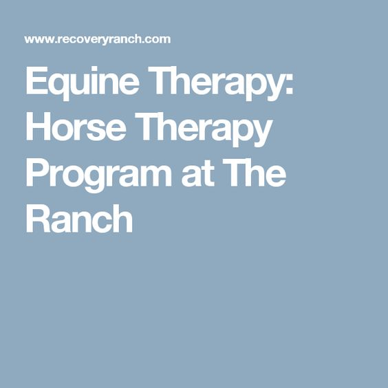 Equine Therapy: Horse Therapy Program at The Ranch