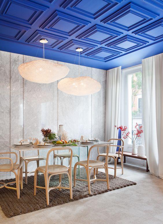 Ideas de #comedor, estilo #mediterraneo color #azul oscuro ...