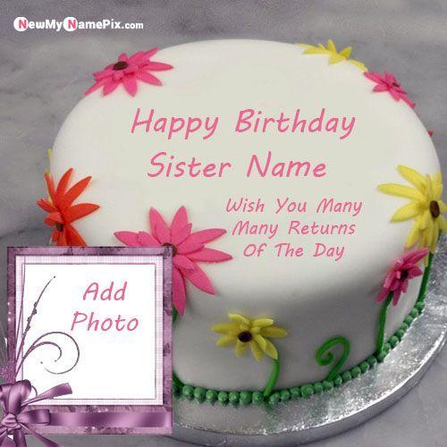 Pin On Sister Birthday Cake