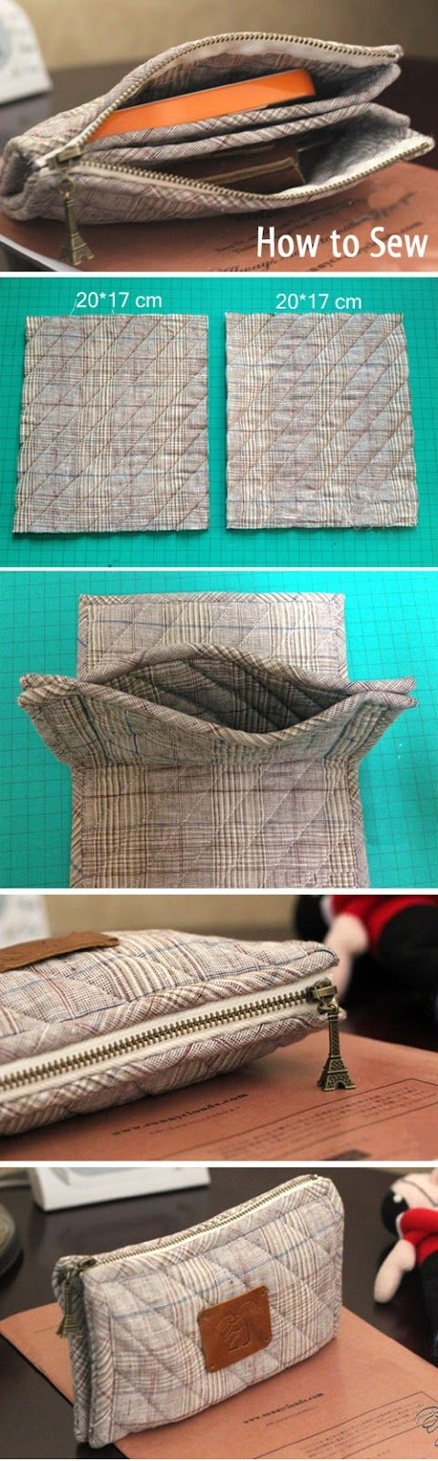 How to Sew Plain Quilted Wallet. DIY Photo Sewing Tutorial.  http://www.handmadiya.com/2016/01/quilted-wallet-tutorial.html: