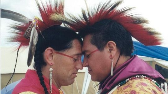 Two-Spirit Joey Criddle and Tony Staton