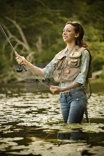 fly fishing babes | fly fishing women do it too. | flyfishing, Fly Fishing Bait
