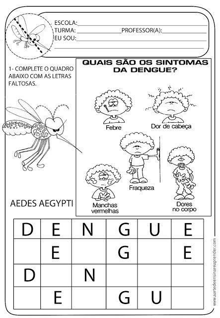 A Arte de Ensinar e Aprender: atividades - dengue: