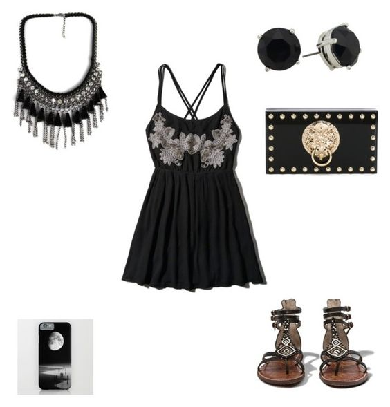 """""""Black night"""" by hailey70707 ❤ liked on Polyvore featuring Abercrombie & Fitch and Charlotte Olympia"""