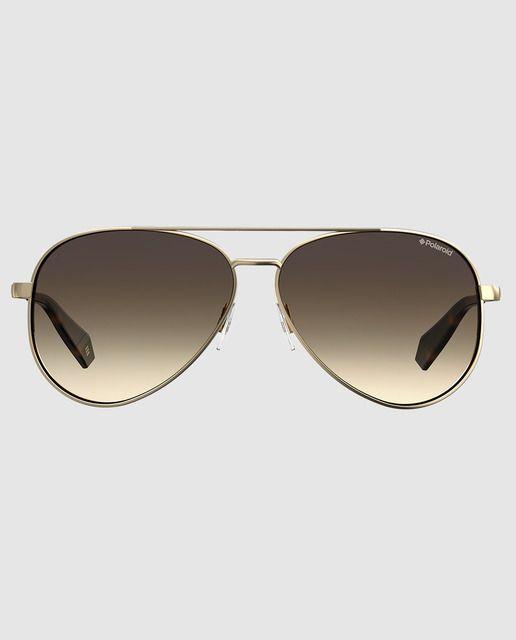 Gafas De Sol Mujer Polaroid Capsula Sara Carbonero Aviador De Metal Dorado Gafas De Sol Gafas De Sol Aviador Gafas