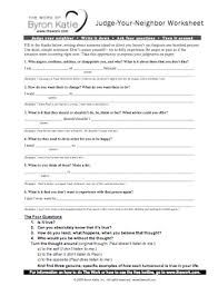 Worksheet Byron Katie Worksheet byron katie thoughts and omalley on pinterest katies worksheet for questioning unhelpful thoughts