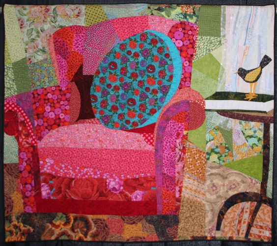 """Welcome"" by Gretchen Jolles. 2011 World Quilt Show - Florida. Photo by Tangerine Key. Kaffe Fassett fabric.:"