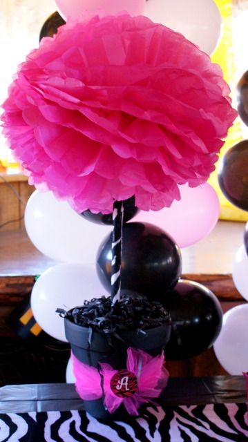 Cute pink and black topiary.