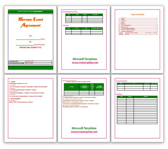 Agreement Templates, Business Agreements, Service Level Agreement - microsoft word contract template