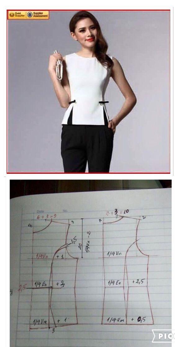 fc332d5fa91 выкройка оригинальной блузки - Самое интересное в блогах