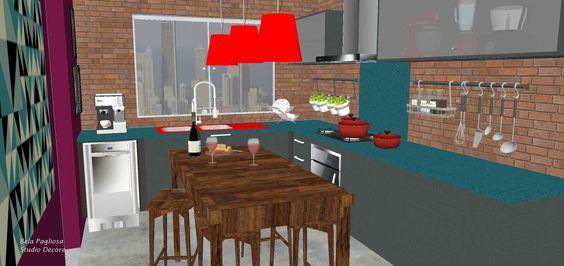 Cozinha projetada para novo empreendimento da Cyrela Residencial Reserva Juglair - Torre 01 Ecoville - Curitiba