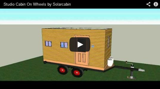 Studio cabin on wheels 8x16 green going green for Home design 8x16