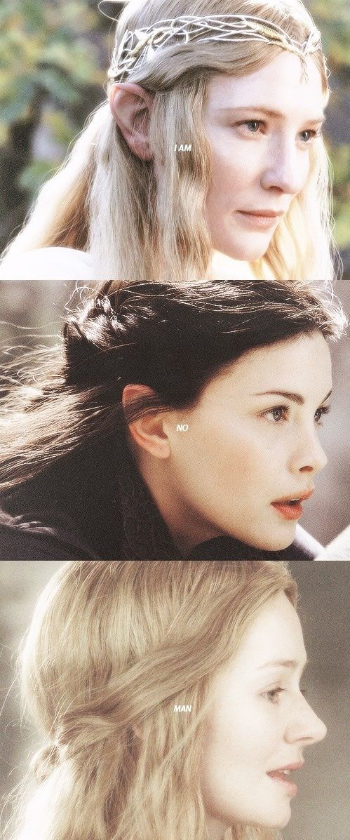 These three women have always been so inspiring to me, along with nearly every other good guy character in LOTR. :)