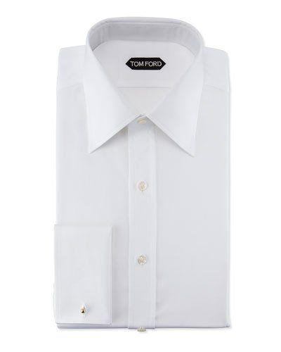 Slim-Fit Classic Dress Shirt, White