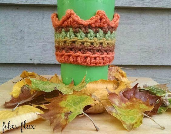 ... coffee cozy pumpkin patches free crochet fiber crochet patterns coffee