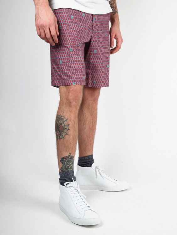 BAND OF OUTSIDERS MEN'S CLASSIC PAISLEY SHORTS