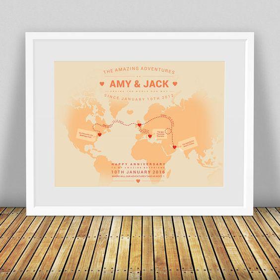 Personalised World Map Custom World Map Travel Map World Map – Map My World Trip