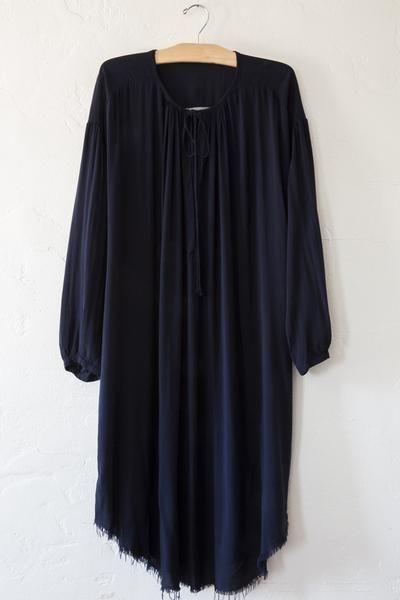 raquel allegra midnight shirt dress