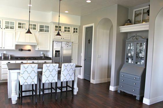 kitchen: Dream House, Leather Barstools, Bar Stools, White Kitchens