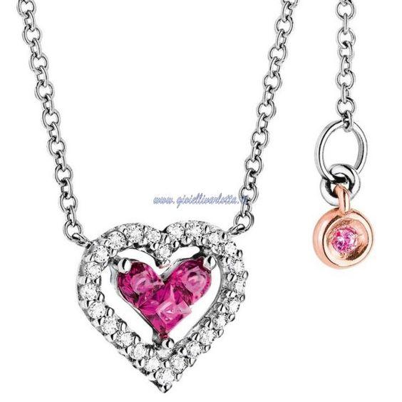 Collana Cuore Rubini COMETE GIOIELLI GLB 750 Amor Mio http://www.gioiellivarlotta.it/product.php?id_product=220