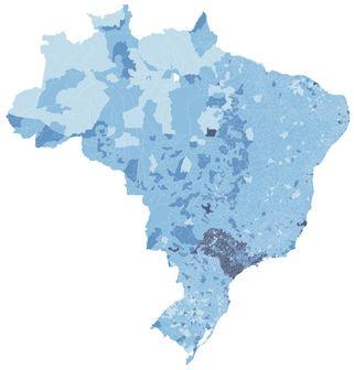 Banda larga no Brasil Mapa mostra a faixa de velocidade predominante em cada cidade http://bit.ly/218VeyR #G1 #internet #bandalarga