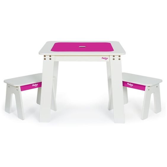 chalk table & stools set by p'kolino