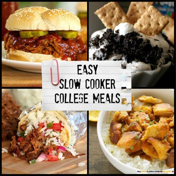 Slow Cooker Dinners: A College Student's Best Friend: 12 Easy Slow Cooker Meals