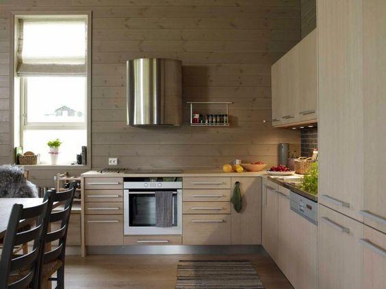 Hvitbeiset: kjøkkenet er et sigdal amfi i hvitbeiset ask ...
