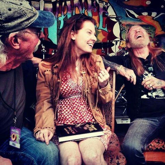 Butch Trucks, Galadrielle Allman (Duane's daughter) and Gregg Allman